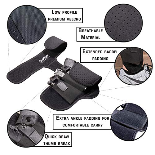 4. Ghost Concealment Ankle Holster for Concealed Carry Pistol