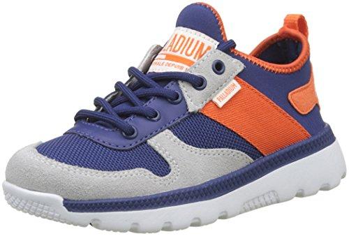 Palladium Jungen Unisex-Kinder Pallaville Low Rs Enfant Sneaker, Blau (Twilight Blue/Flame N89), 32 EU