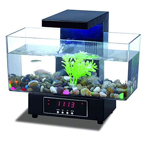 TEHWDE desktop-aquarium, mini-aquarium ornamenten professionele aquarium mini-touch koplamp USB transparante elektronica aquarium met grote capaciteit