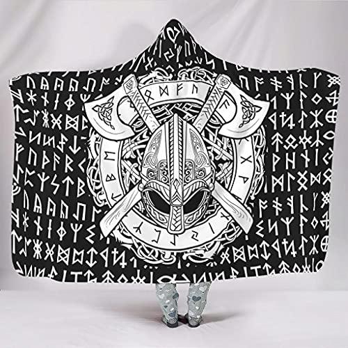 STELULI Sudaderas mantas Viking Norway Big Comfort Luxury Pattern Robe - Viking Norway se adapta al descanso del mediodía para regalo de estudiante blanco 127 x 152 cm