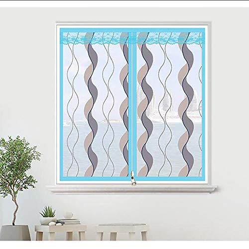 Moustiquaire Magnétique pour Fenêtre en Fibre de Verre Filet Anti-moustiques pour Plusieurs Fenêtres, Fermeture Velcro Super Silencieuse, (Violet, Bleu)