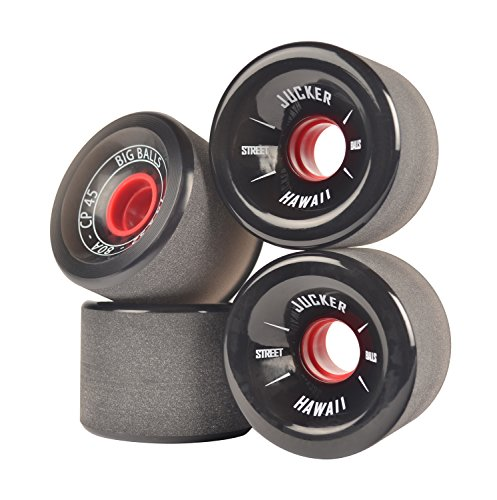 JUCKER HAWAII Longboard Rollen/Wheels STREETBALLS - Big Balls Black