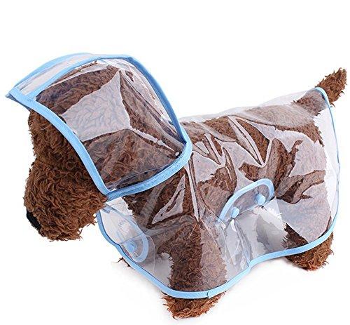 Zoonpark® - Poncho leggero e impermeabile, in plastica trasparente, per cani di piccola o media taglia