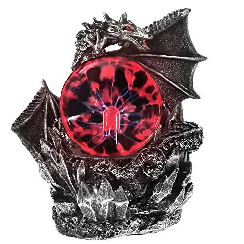 Estatua de resina de dragón medieval dragones oscuros guardian touch touch sensible...