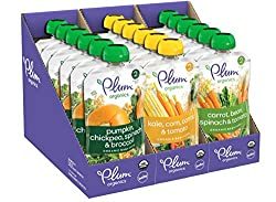 in budget affordable Plum Organic Savory Vegetable Organic Baby Food Variety Pack 3.5oz Bag (18 Pack)