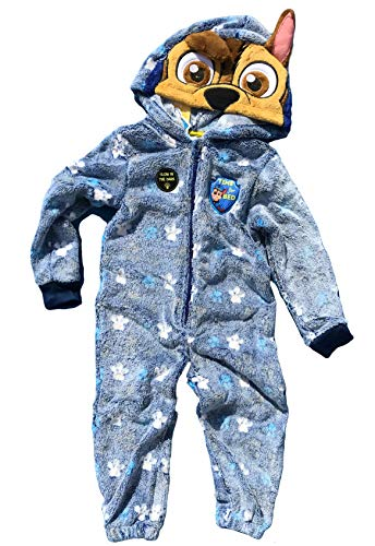 Cool Fun-T-shirts knuffelige kinderjumpsuit overall glow in the dark met capuchon maat 110-5 jaar