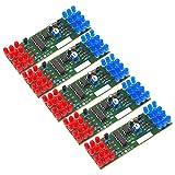 Kyrio 5PCS LED Kits de Luces electrónicas Rojo Azul Dual-Color DIY Kit de Luces Intermitentes Componentes NE555 CD4017 Traje electrónico estroboscópico