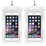 [2Pack]Waterproof Case Universal CellPhone Dry Bag Pouch CaseHQ for Apple iPhone 8,8plus,7,7plus£¬6S, 6, 6S Plus, SE, 5S, Samsung Galaxy s8,s8plus S7, S6 Note 7 5, HTC LG up to 5.8' diagonal