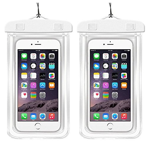 """[2Pack]Waterproof Case Universal CellPhone Dry Bag Pouch CaseHQ for Apple iPhone 8,8plus,7,7plus£¬6S, 6, 6S Plus, SE, 5S, Samsung Galaxy s8,s8plus S7, S6 Note 7 5, HTC LG up to 5.8"""" diagonal"""