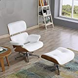 Lazy Schlafsofa Floor Chair Sofa Sofa Leder Relaxsessel Family Leisure Chair für Wohnzimmer Schlafzimmer Club Office Lazy Couch (White)