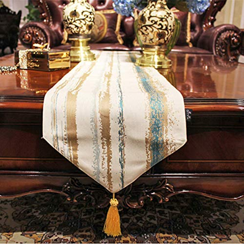 Fashionable Geometric Striped Sharp Corner Table Runner, Home Fabric Soft Decoration, Dustproof Cover Towel, Dinner Table Decoration 30x140cm