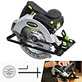 GALAX PRO 12A 5500RPM Corded Circular Saw with 7-1/4' Circular Saw Blade and Laser Guide Max Cutting Depth 2.45' (90°), 1.81' (45°) for Wood and Log Cutting(USAGPL12367)