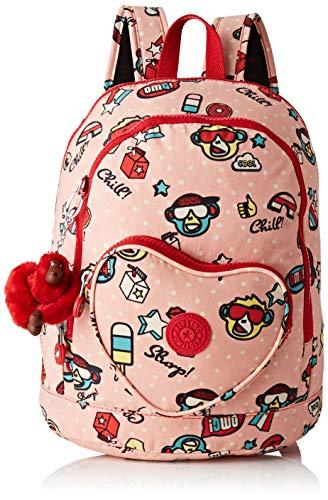 Kipling Heart Backpack Kinder-Rucksack, 32 cm, 9 Liter, Monkey Play