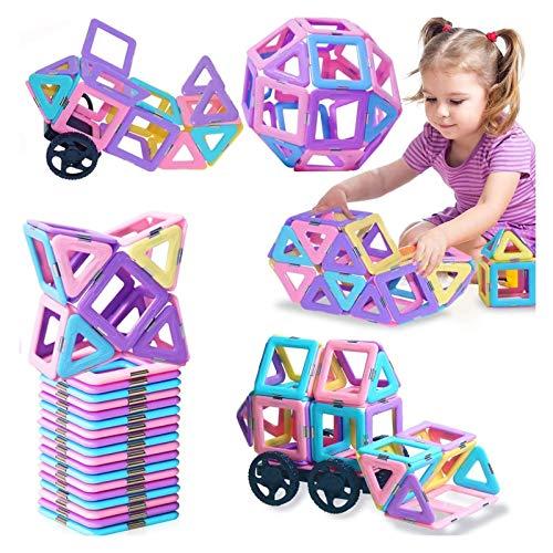 LEFJDNGB Cossy Kindermagnet-Spielzeug-Magnetblöcke 3D-Makkaronclear-Farbe mit starken Magneten entwickelt Kinder Imagination Inspiration und feine motorische Fähigkeiten bei Kindern, die für 2 3 4 5 6
