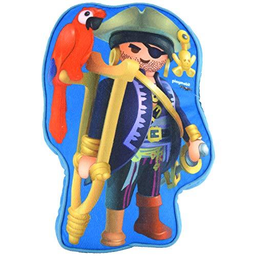 PLAYMOBIL United Labels Cojín Infantil con diseño de Pirata, Aprox. 26 x 37 x 5 cm.