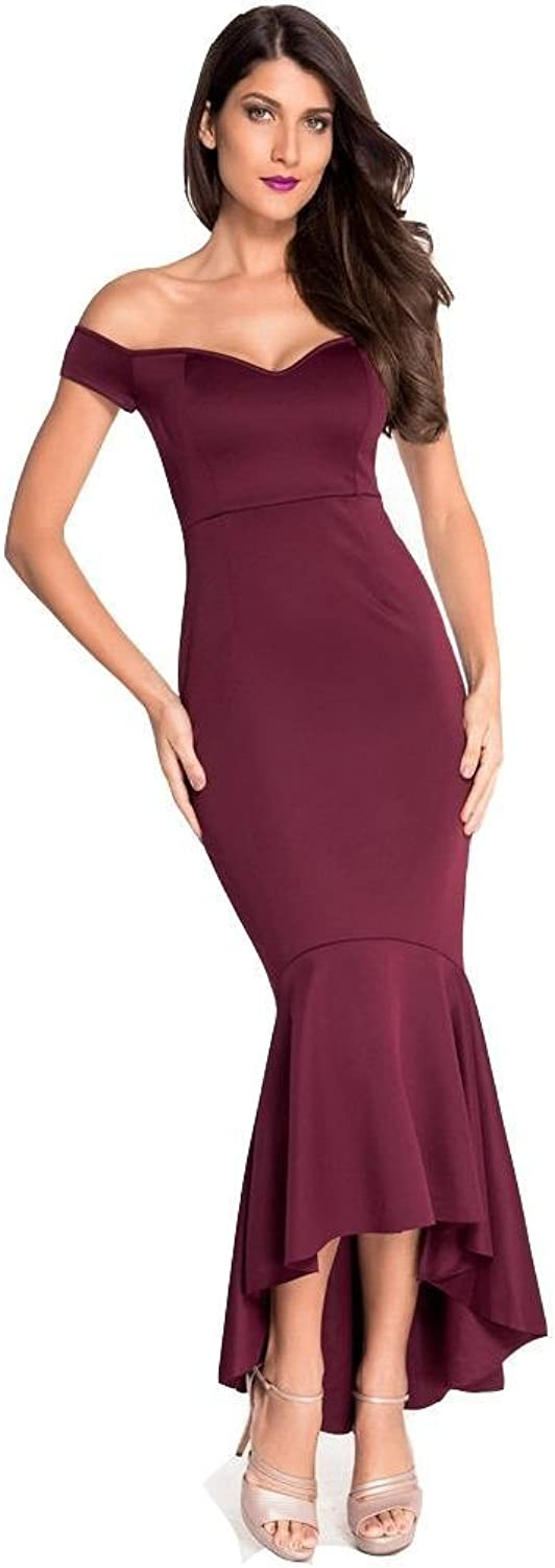 DACHUI Women Party Cocktail Bar Club Open Previous vNeck Sleeveless Mermaid Maxi Dress