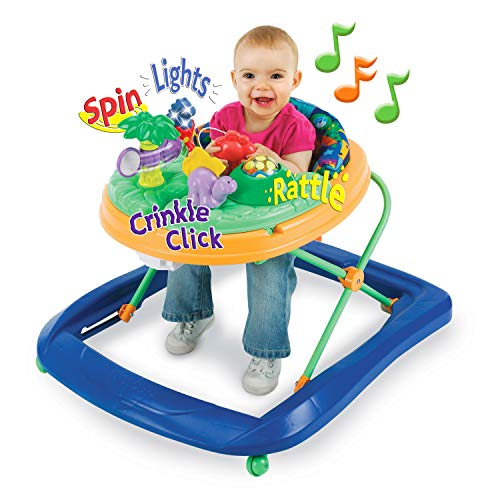 Safety 1st Dino Sounds 'n Lights Discovery Baby Walker with Activity Tray