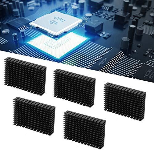 Radiador de refrigeración, disipador de calor de CPU, disipador de calor negro, 5 piezas, enfriador de CPU antioxidante para placa de alimentación para transistor