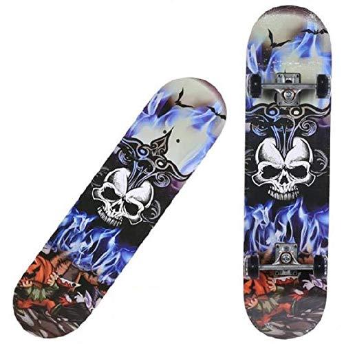 ZLQ Skate-Board, 32 * 8 * 4 Pieds Pro Planche à roulettes de catégorie A en Bois d'érable longboards pour Les Adultes débutants Ados Filles garçons,B