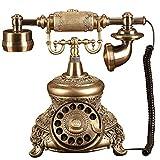 Antikes Festnetztelefon - Drucktasten Und Drehtelefone - Retro Telefon Mit Schnüren - Retro Dekoratives Telefon - Festnetz- Und Bürotelefon, In Verschiedenen Ausführungen Erhältlich (Stil : AA)