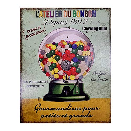 Antic Line Plaque l'atelier du Bonbon 28 * 22 cm