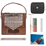 TOM Kalimba, 17 Key Thumb Piano with EVA High-performance Protective Case, Tune Hammer And Study Instruction 17 Finger Tone Mbira for Kids Adult...