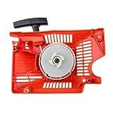 Bowarepro Conjunto de arranque de arranque de retroceso único, 45 cc, 52 cc, 58 cc, cortacésped, motosierra, arrancador para motosierra china 4500, 5200, 5800, color rojo