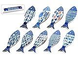 Gruppo Maruccia Platos con forma de pececillos de cerámica decorados platos para aperitivos y aperitivos salvamanteles de cerámica