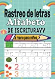 Rastreo de letras Alfabeto de escritura a mano para niños: Practique...