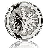 Eintracht Frankfurt Aufkleber, Sticker, Autoaufkleber Chromlogo Adler 3D SGE - Plus Lesezeichen I Love Frankfurt -