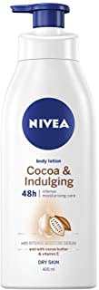 NIVEA Cocoa & Indulging 48 Hour Intense Body Lotion & Moisturiser with Intensive Moisture Serum, Cocoa Butter & Vitamin E for Dry Skin, 400ml