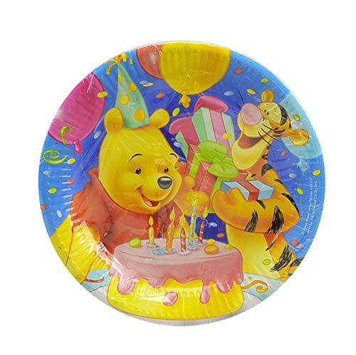 Winnie The Pooh Geburtstag Teller 23cm 10Stück
