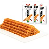 WeiLong Latiao Damianjin Spicy Gluten New Package 318g(106gx3 318g) 卫龙辣条 大面筋