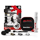 Alpine MusicSafe Pro Ear Plugs - Enhance your music experience without risking hearing damage - Three interchangeable filter sets + accessories - Hypoallergenic material - Reusable earplugs - Black