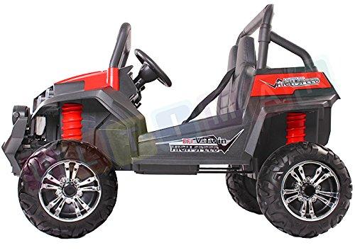 RC Auto kaufen Kinderauto Bild 3: Kinderauto Elektroauto Offroad Buggy ALLRAD 2-Sitzer 4x45 Watt Geländewagen Weiß*