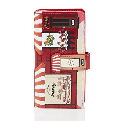 Shagwear portafoglio per giovani donne pasticceria rosso/Bakery, Large Purse(WALT 0549Z):
