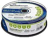 MediaRange MRPL612 DVD en Blanco 4,7 GB DVD-R 25 Pieza(s) - DVD+RW vírgenes (4,7 GB, DVD-R, 120 mm, 25 Pieza(s), 16x, Caja para Pastel)