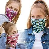 ALB Stoffe® ProtectMe - KIDS Loops Mix 2, permanent antimikrobiell, 100% Made in Germany, Ökotex® Standard 100, Mund-Nasen-Maske aus Trevira Bioactive®, waschbar, schadstofffrei, 3er Pack
