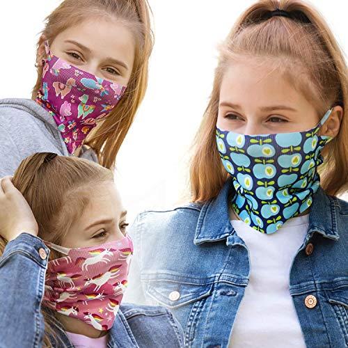 ALB Stoffe® ProtectMe - KIDS Loops Mix 2, permanent antimikrobiell, 100{a42079e6f1f68606729d4fcda6895e13d7c7fe0a58df34eb5608d4b398ee1c99} Made in Germany, Ökotex® Standard 100, Mund-Nasen-Maske aus Trevira Bioactive®, waschbar, schadstofffrei, 3er Pack