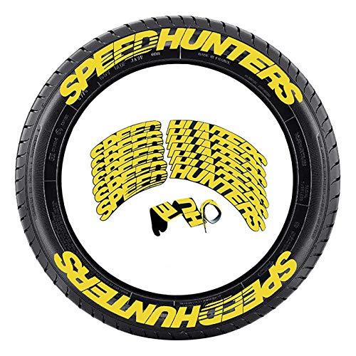 Pegatinas para neumático, 8pcs Cazadores de velocidad universal Pegatinas de letras, decoración de neumáticos de automóviles y motocicleta, personalidad estéreo 3D Modificado Accesorios de neumáticos