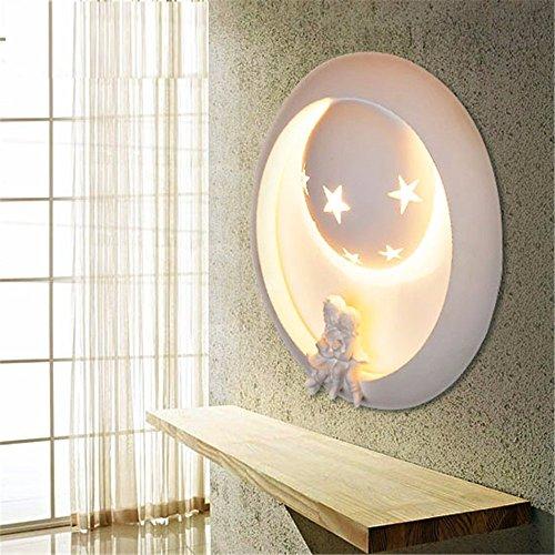 SADASD Cartoon Art Kinderzimmer Wandleuchte kreative Wohnzimmer Treppenhaus Flur Wand Lampe Schlafzimmer Hotel Nachttischlampe, einschließlich 5-W warmes Licht LED