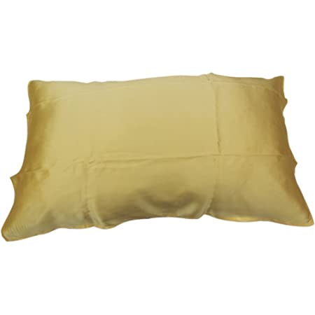 Generic 100% Silk Fashion Soft Pillow Cover for Beauty of Hair and Face Soft Gift -Yellow