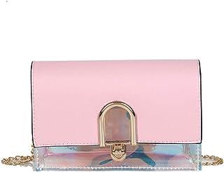 Wultia - Bags for Women Women Joker Simple Fashion Shoulder Bag Messenger Bag Small Square Bag Bolsa Feminina Pink