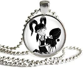 Frankenweenie Elsa and Persephone Van Helsing 1 Inch Silver Plated Pendant Necklace