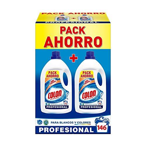 Colon Gel Original - Detergente para Lavadora, Formato Gel Profesional, pack 146 lavados