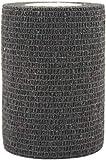 PintoMed - Venda Cohesiva - 10 x NEGRO - 10 rollos x 7,5 cm x 4,5 m autoadhesivo, vendaje flexible, primeros auxilios, lesiones