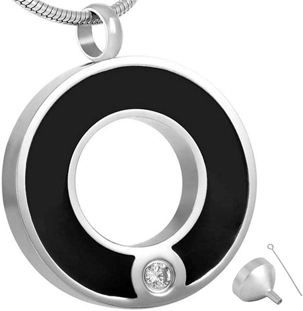 Memorial Jewelry Urns Ashes Pendant Jewelrystainless Steel Cremation Jewelry with Crystal Ash Pendant Urn