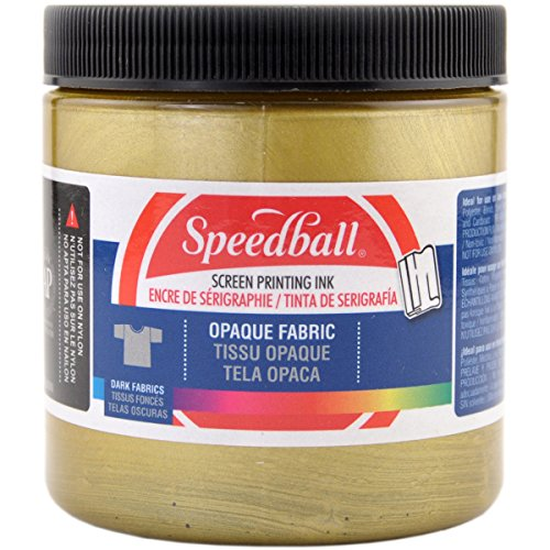 Opaque Fabric Screen Printing Ink Colour: Gold, Size: 8 oz