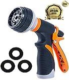 Garden Hose Nozzle Spray Nozzle | Water Nozzle with Heavy Duty 8 Adjustable Watering Patterns, Slip and Shock...