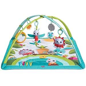 Tiny Love Gymini Sunny Day Gimnasio para bebés, Manta de actividades para el desarrollo con divertidos juguetes musicales, 3 melodias, Meadow Days